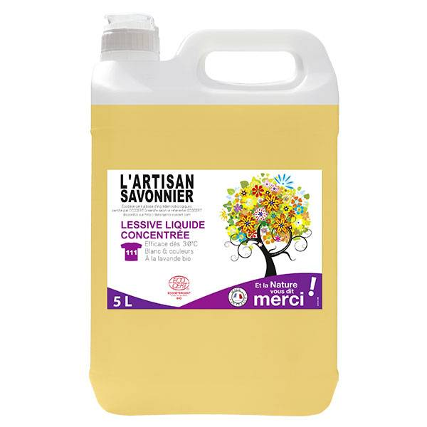 L'Artisan Savonnier Entretien L'Artisan Savonnier Lessive Liquide Concentrée 5L