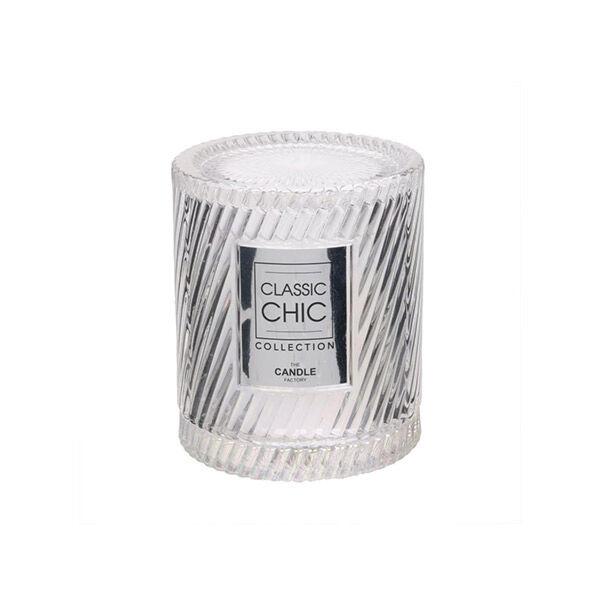 Lysse Côté Maison Bougie Cloche Verre Cisele Irisé 9.3x8cm Blanc