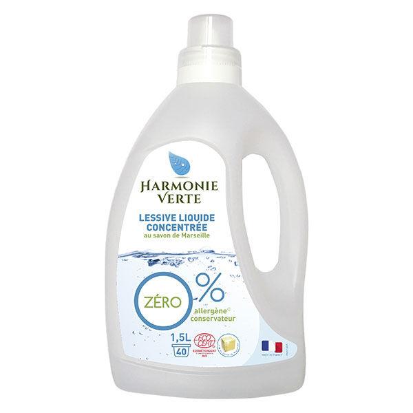 Harmonie Verte Lessive Liquide Concentrée Savon de Marseille 1,5L