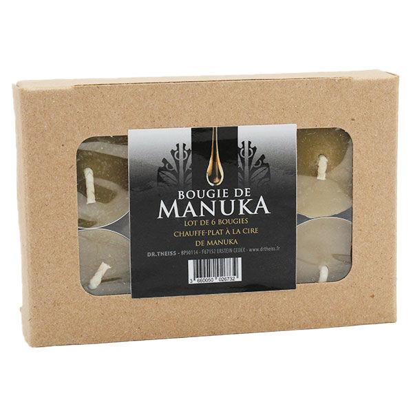 Miel de Manuka Bougies de Table à la Cire d'Abeille de Manuka 6 unités