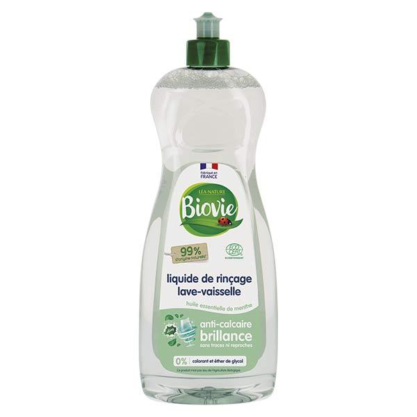 Biovie Lave Vaisselle Liquide Rinçage Huile Essentielle de Menthe 750ml