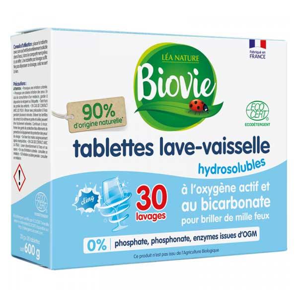 Biovie Lave Vaisselle Tablette Bicarbonate de Soude 30 unités