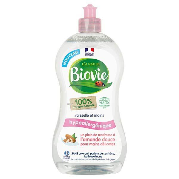 Biovie Vaisselle Mains Hypoallergénique Huile d'Amande Douce Bio 500ml