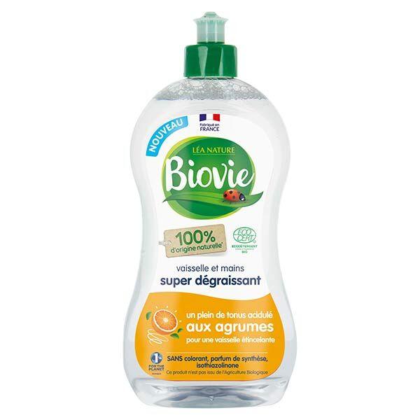 Biovie Vaisselle Mains Super Dégraissant Huile Essentielle d'Agrumes Bio 500ml