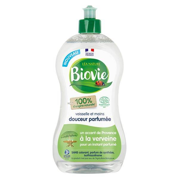 Biovie Vaisselle Mains Douceur Parfumée Verveine de Provence Bio 500ml