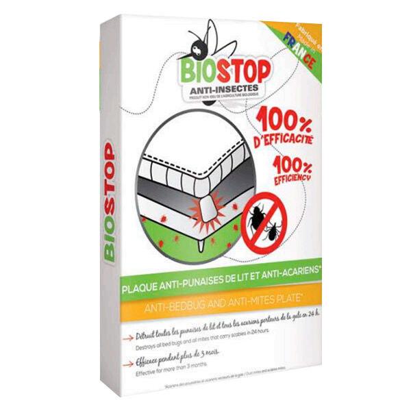 Biostop Anti-Insectes Plaque Anti-Punaises de Lit et Anti-Acariens