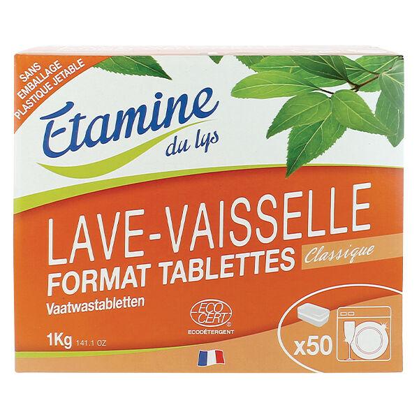 Etamine Du Lys Étamine du Lys Lave Vaisselle Tablettes Classiques Bio 50 unités