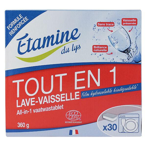 Etamine Du Lys Étamine du Lys Lave Vaisselle Tablettes Tout en 1 Bio 30 unités