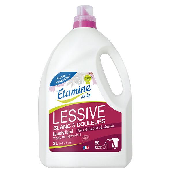 Etamine Du Lys Étamine du Lys Lessive Liquide Fleur de Cerisier et Jasmin Bio 3L