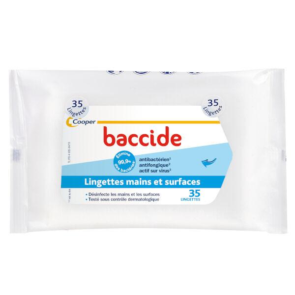 Cooper Baccide Lingettes Mains et Surfaces 35 lingettes