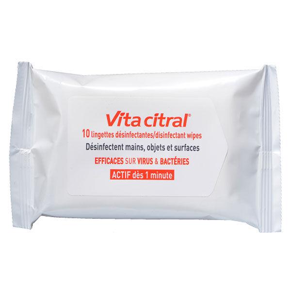 Akileine Asepta VitaCitral Lingettes Desinfectantes Biodegradables 10 unités