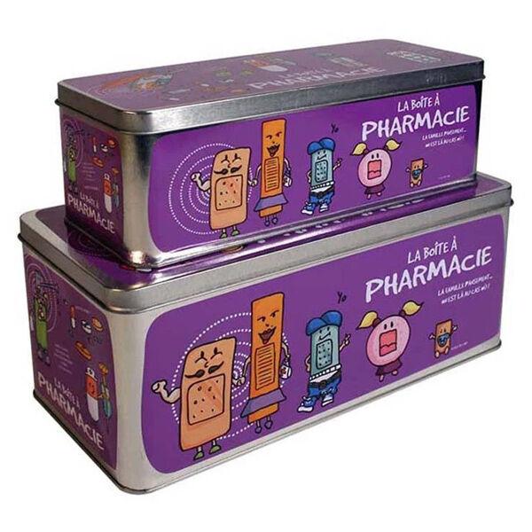 Lysse Matériel Médical Boîte à Pharmacie Lot de 2 Violette
