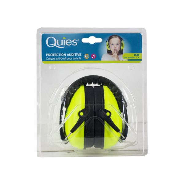 Quies Protection Auditive Casque Anti-Bruit Enfants Vert