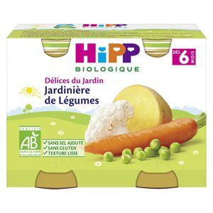 Hipp Bio Délices du Jardin Pot Jardinière de Légumes +6m Lot de 2 x 190g - Publicité