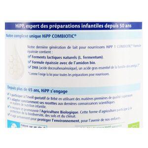 Hipp Lait 1 Combiotic Formule Épaissie 800g - Publicité