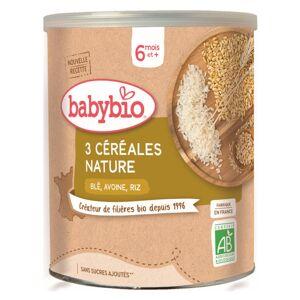 Babybio Mes Céréales Pot Nature Blé Avoine Riz +6m Bio 220g - Publicité