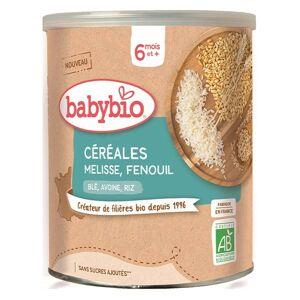 Babybio Mes Céréales Pot Mélisse Fenouil Blé Avoine Riz +6m Bio 220g - Publicité