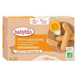 Babybio Mes Petits Biscuits Boudoirs à l'Huile Essentielle d'Orange Douce +8m Bio 120g - Publicité