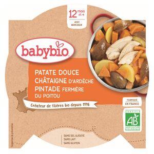 Babybio Menu du Jour Assiette Patate Douce Châtaigne Pintade +12m Bio 230g - Publicité