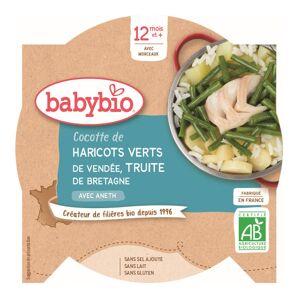 Babybio Repas Midi Assiette Cocotte de haricots Verts Truite +12m Bio 230g - Publicité