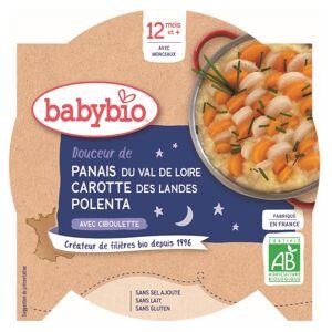 Babybio Bonne Nuit Assiette Douceur Panais Carotte Polenta +12m Bio 230g - Publicité