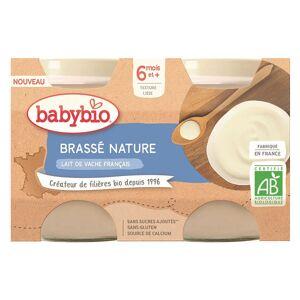 Babybio Douceur de Lait Pot au Lait de Vache Nature +6m Bio Lot de 2 x 130g - Publicité