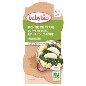 Babybio Mes Légumes Bol Trio Pomme de Terre Epinard Chèvre +8m Bio 2 x 200g - Publicité