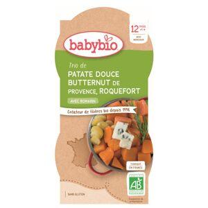 Babybio Menu du Jour Assiette Patate Douce Butternut Roquefort dès 12 mois 2 x 200g - Publicité