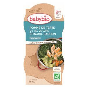 Babybio Menu du Jour Bol Pomme de Terre Epinard Saumon Aneth +8m Bio 2 x 200g - Publicité