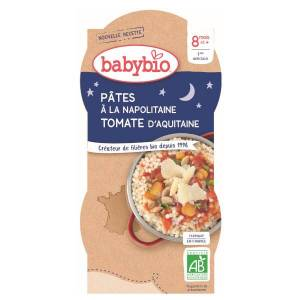 Babybio Bonne Nuit Bol Pâtes Napolitaine +8m Bio 2 x 200g - Publicité