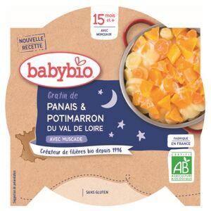 Babybio Bonne Nuit Assiette Gratin Panais Potimarron +15m Bio 260g - Publicité