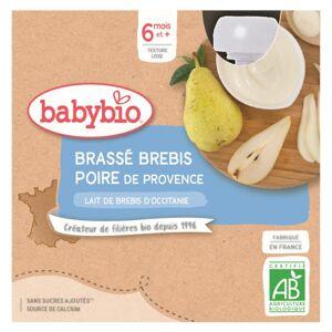 Babybio Mes Brassés Gourde Lactée Lait de Brebis Poire +6m Bio 4 x 85g - Publicité