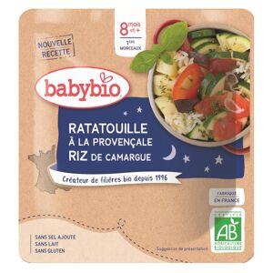 Babybio Bonne Nuit Sachet Ratatouille Provençale Riz +8m Bio 190g - Publicité