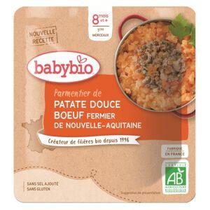Babybio Menu du Jour Sachet Parmentier de Patate Douce et Bœuf +8m Bio 190g - Publicité