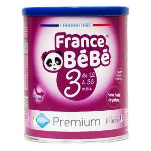 France Bébé Nutrition France Bébé Premium Croissance Lait 3ème Age 400g - Publicité