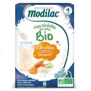 Modilac Mes Céréales du Soir Bio Riz Carotte Dès 4 mois 250g - Publicité