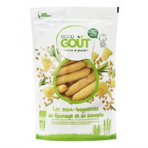 Good Goût Biscuits Mini-Baguettes au Fromage Et au Romarin +10m Bio 70g - Publicité