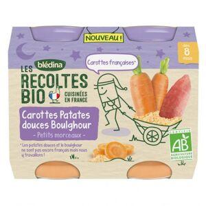 Blédina Récoltes Bio Nuit dès 8 mois Carottes Patates Douces Boulghour 2 x 200g - Publicité