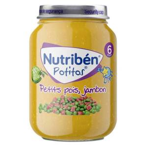 Nutriben Nutribén Potitos Dîner Petits Pois Jambon +6m 190g - Publicité