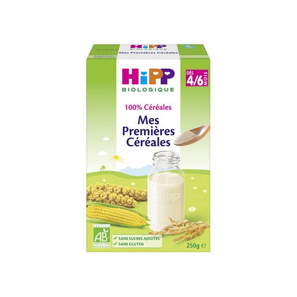 Hipp Bio 100% Céréales Mes Premières Céréales +4m 250g