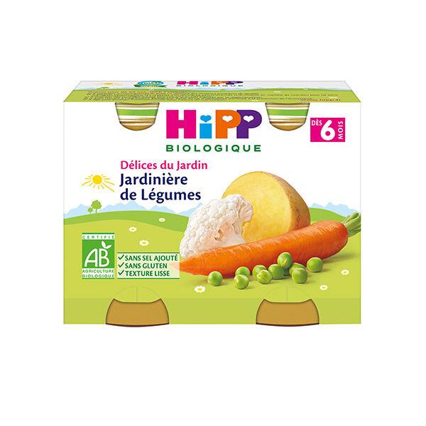 Hipp Bio Délices du Jardin Jardinière de Légumes +6m Lot de 2 x 190g