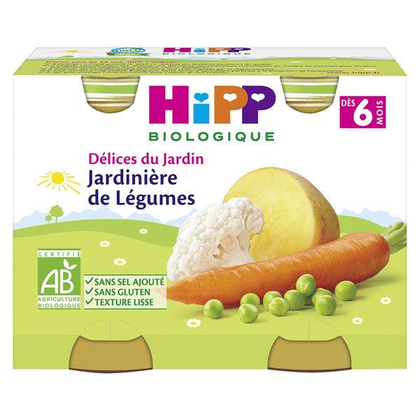 Hipp Bio Délices du Jardin Pot Jardinière de Légumes +6m Lot de 2 x 190g