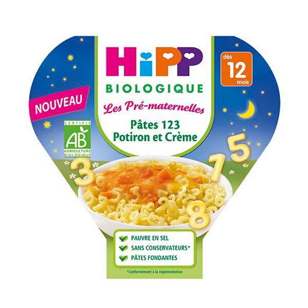 Hipp Bio Les Pré-Maternelles Bio Pâtes 123 Potiron et Crème +12m 230g