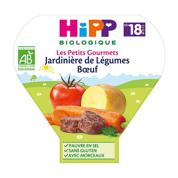 Hipp Bio Les Petits Gourmets Assiette Jardinière de Légumes Boeuf +18m 260g