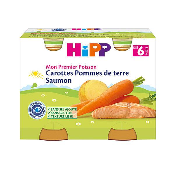 Hipp Bio Mon Premier Poisson Carottes Pommes de Terre Saumon +6m Lot de 2 x 190g