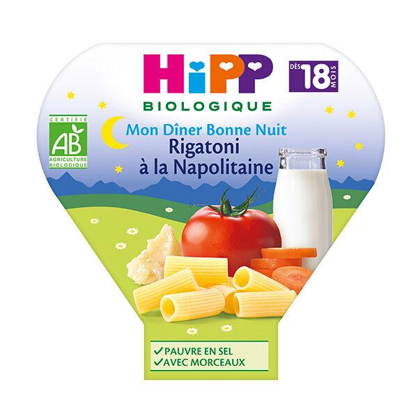Hipp Bio Mon Dîner Bonne Nuit Assiette Rigatoni à la Napolitaine +18m 260g