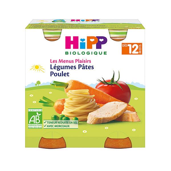Hipp Bio Les Menus Plaisirs Bio Légumes Pâtes Poulet +12m Lot de 2 x 250g