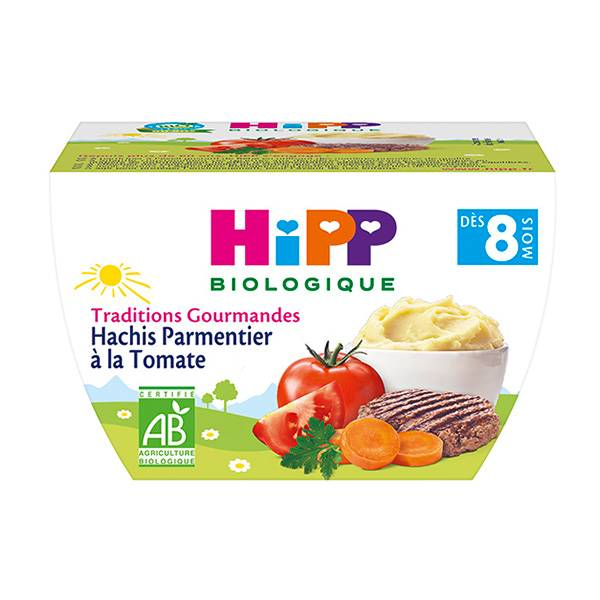 Hipp Bio Traditions Gourmandes Hachis Parmentier à la Tomate +8m 190g
