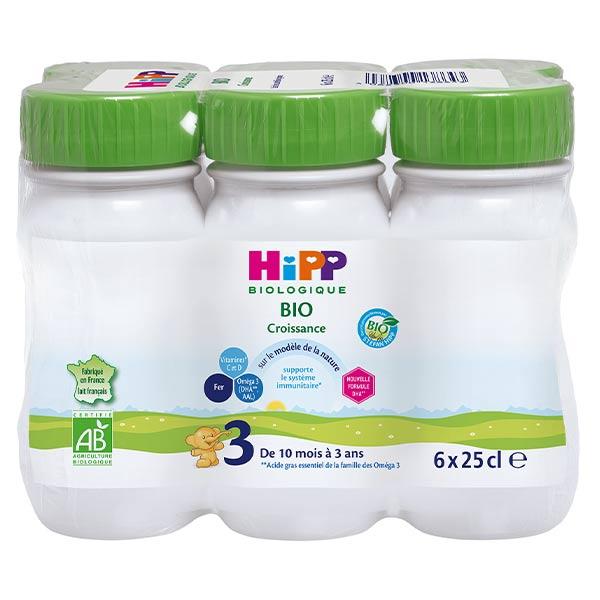 Hipp Bio Lait de Croissance Liquide Combiotic 3ème Âge 6 x 25cl