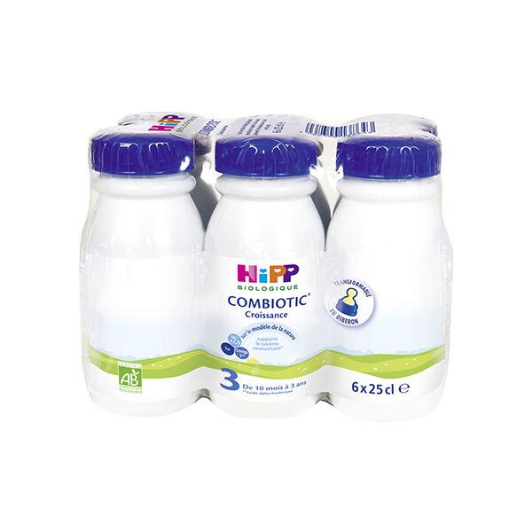 Hipp Bio Lait Combiotic Croissance 10m-3ans 6 x 25cl